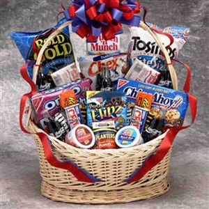 Coke and Snack Lover Basket Lg - Thirst and Appetite Quencher!