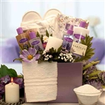 Spa Inspirations Bath and Body Gift Box - Filled with an abundance of lavish lavender spa treatments.