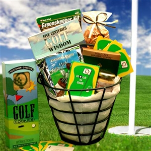 Golfers Ball Bucket Gourmet Gift Basket