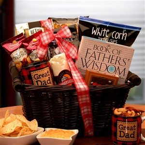 My  Great Dad Gift Basket - Features a Great Dad Mug and Father Themed Book
