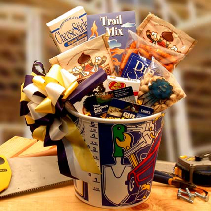 A Great Gift for Dad's Birthday or Fathers Day. Get your handyman this fabulous gift bucket! Mr. Fix-it is sure to get all those odd chores or projects out of the way. Content Include: Mr. Fix It Paint Bucket Mr. Fix It Pistachios Jelly Belly Jelly Bea #gift
