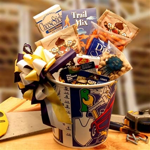 Working Man's Gift Bucket w 25 Gift Card - A Perfect Fathers Day Gift!