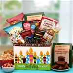 Happy Birthday to You! Birthday Gift Bag filled with treats, including fudge, cookies, chips, Jelly Belly jelly beans and more.