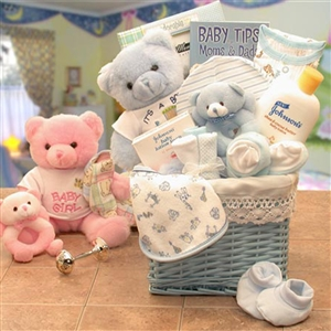Last Minute Baby Boy Gift Basket - Everything Parents Need for Their New Baby!