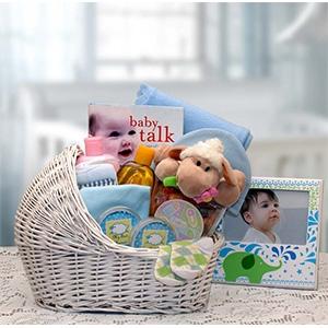 dcddcdf9f537 Newborn Baby Blue Bassinet Gift Collection
