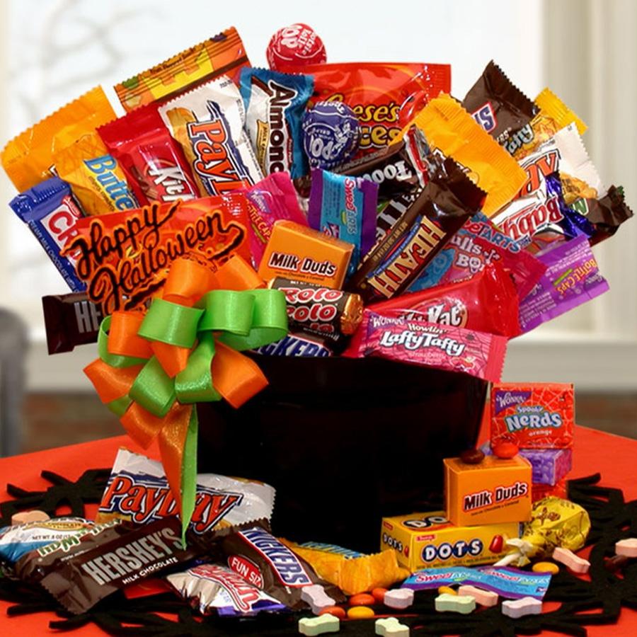 Happy halloween candy cauldron of treats halloween gift baskets happy halloween candy cauldron of treats negle Gallery