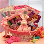 Little Princess Disney Easter Fun Basket - Designed for Girls ages 4 thru 9. Features a combination of sweet treats and activities toys with a Princess Theme