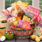 Easter Extravaganza Gift Basket - Filled with sweet treats and an adorable Easter Bunny Bag