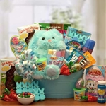 Carrot Patch Easter Gift Basket  - Bunny, Treats and Activity Basket