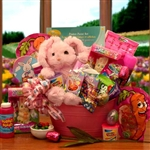 Happy Bunny Easter Gift Basket - Treats and activities basket for kids