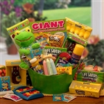Hip Hoppin Fun Easter Gift Basket - Plush froggy, treats and activity basket