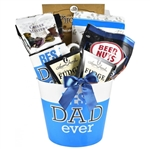 Best Dad Ever Gift Basket - Features a Best Dad planter, mug, funny book and coffee and snacks