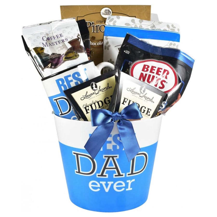 Features a book, planter, coffee mug and picture frame! Here is a gift for dad that will keep on giving long after Father's Day. It starts with a Best Dad Ever planter which is planted with a matching Best Dad Ever coffee mug and picture frame. If that wa #best