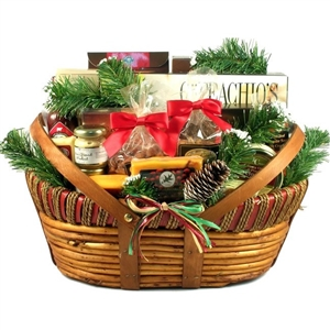 Deluxe Home For The Holidays Gift Basket