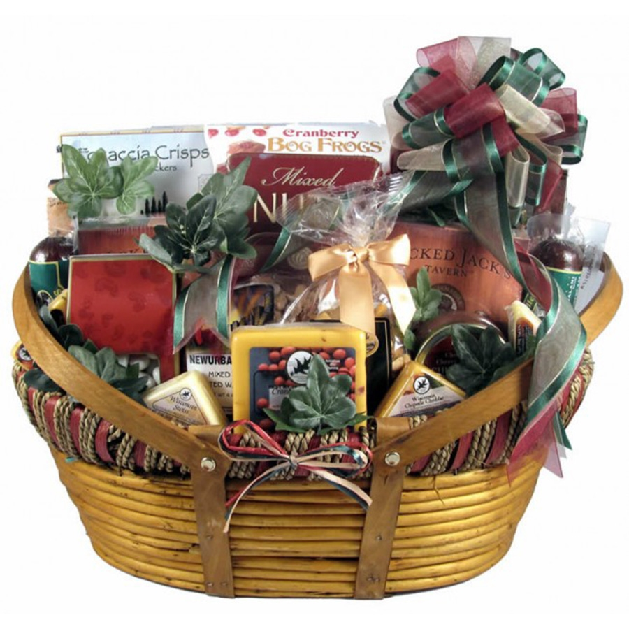 Giant Midwesterner Cheese And Sausage Gift Basket