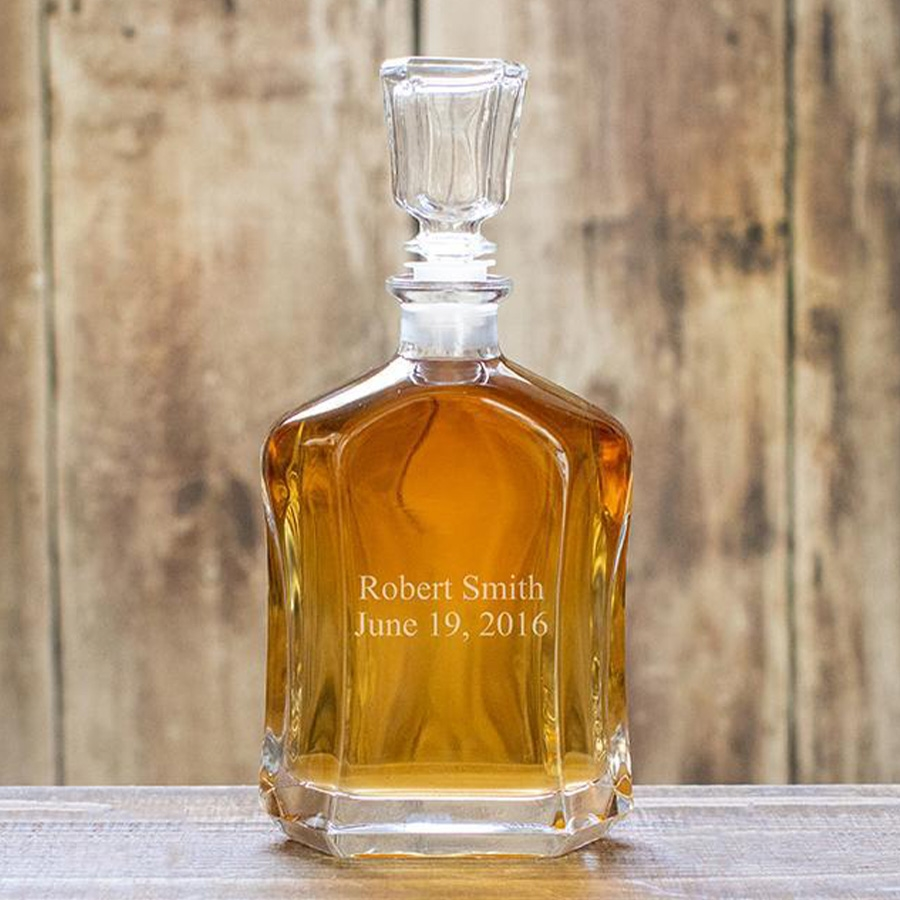 Personalized Elegant Whiskey Glass Decanter