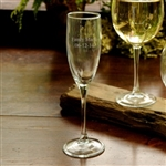 Engraved Toasting Glass