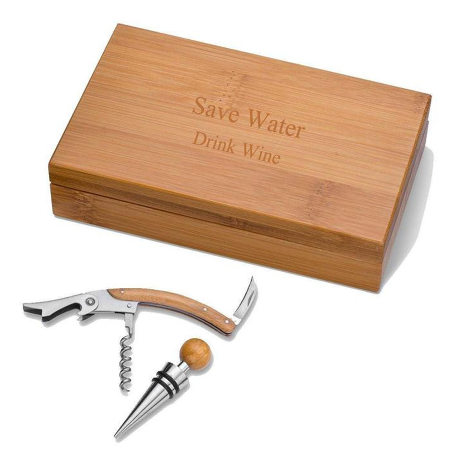 Bamboo Wine Gift Set