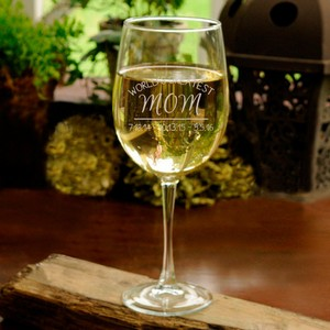 Personalized Wine Glass with World's Greatest Mom engraved