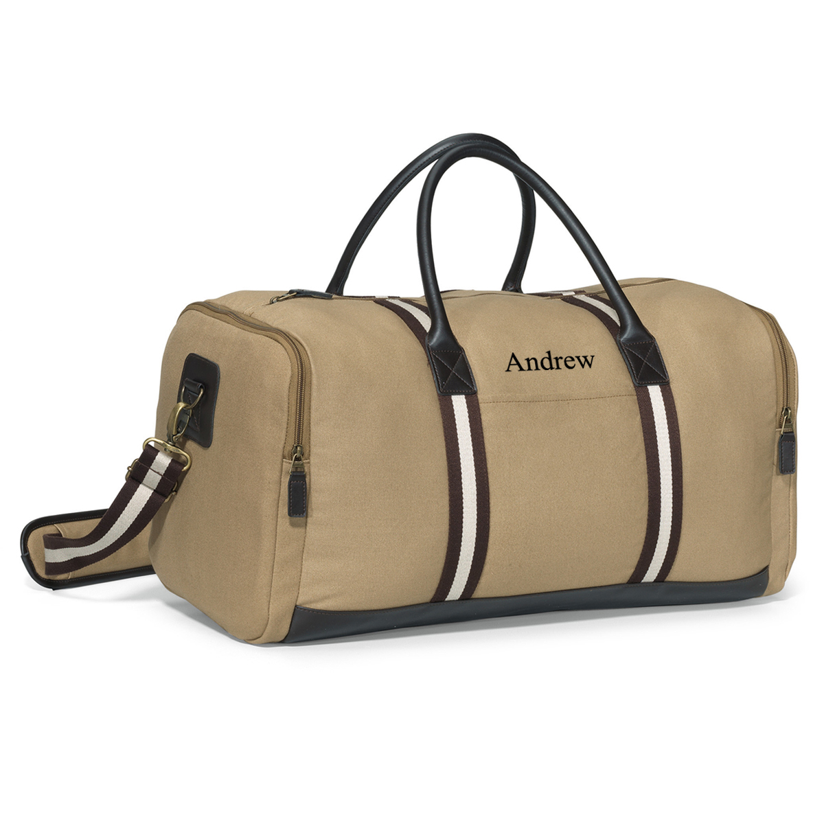 Personalized Heritage Supply Duffel Bag with Antique Hardware
