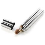 Stainless Steel Cigar Case and Flask | Cigar Case | Flask Gift Set