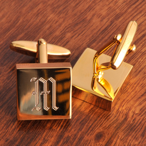 Brass Square Cufflinks Personalised