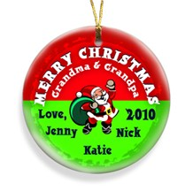 Santa Red Merry Christmas Personalized Ornament