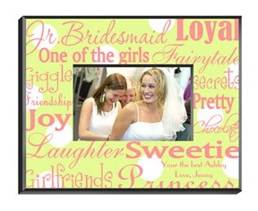 Junior Bridesmaid Picture Frame Personalized - A great gift idea for the younger girls in your wedding party.