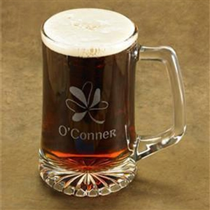 Shamrock Beer Mug Personalized - The perfect gift for St Patricks Day