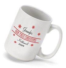Our First Christmas Coffee Mug Personalized in Choice of Styles - What a wonderful way to remember your first Christmas…available in a variety of styles