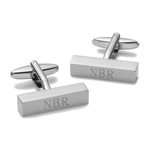 Personalized Cufflink Bars - Personalized Cuff Links Personalized Gifts