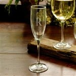 Personalized Champagne Flute with Initial