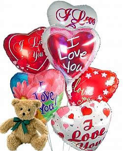 Teddy Bear and Love Balloons 1198
