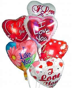 Celebrate any occasion with luminous balloons! - Half Dozen Mylar Balloons - Love
