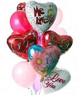 These radiant balloons are a treat for the eyes! - Dozen Mylar and Latex Balloons - Love