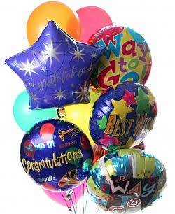 These radiant balloons are a treat for the eyes! - Dozen Mylar and Latex Balloons - Celebration