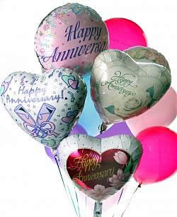 These radiant balloons are a treat for the eyes! - Dozen Mylar and Latex Balloons - Anniversary