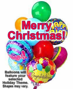 These radiant balloons are a treat for the eyes! - Dozen Mylar and Latex Balloons - Christmas