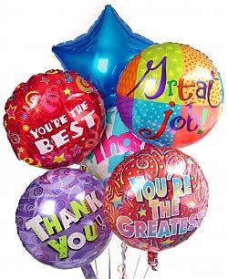 Celebrate any occasion with luminous balloons! - Half Dozen Mylar Balloons - Thank You
