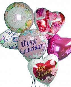 Celebrate any occasion with luminous balloons! - Half Dozen Mylar Balloons - Anniversary