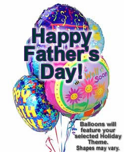 Celebrate any occasion with luminous balloons! - Half Dozen Mylar Balloons - Fathers Day