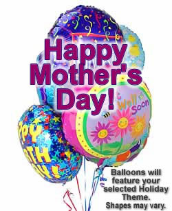 Half Dozen Mylar Balloons Mothers Day