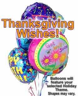 Half Dozen Mylar Balloons Thanksgiving