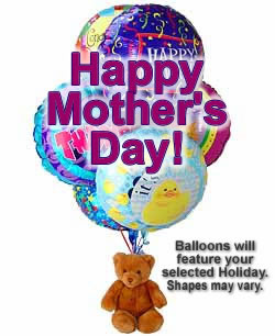Mothers Day Balloon and Teddy Bouquet