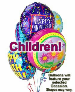 Celebrate any occasion with luminous balloons! - Half Dozen Mylar Balloons - Children