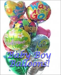 Celebrate any occasion with luminous balloons! - Dozen Mylar Balloons - Baby Boy