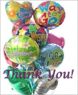 Celebrate any occasion with luminous balloons! - Dozen Mylar Balloons - Thank You