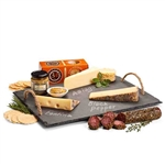 Slate Serving Tray with Artisan Cheeses and Salami