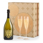 Champagne and Crystal Flute Gift Set with Dom Perignon
