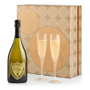 Champagne and Glassware Gift Set with Vintage Krug Brut